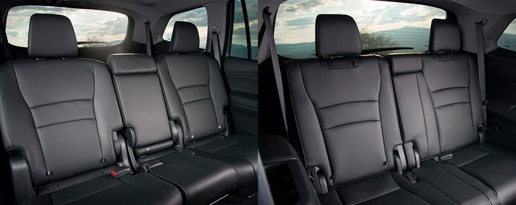 El interior de la New PILOT no solo transmite una sensación de gran espacio, es un verdadero SUV con asientos de 3 filas, capacidad para transportar a 8 pasajeros en una cabina cómoda y lujosa.