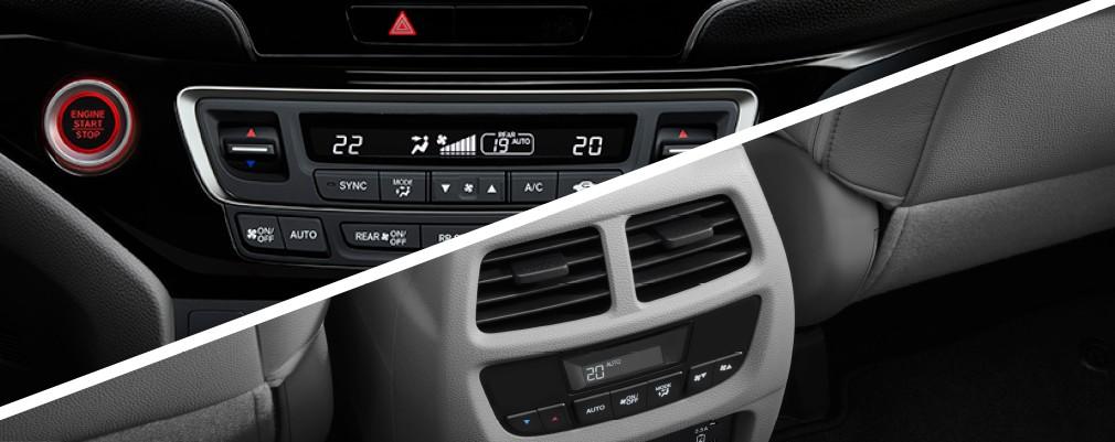 El climatizador automático Tri-Zona permite configurar la temperatura deseada para el conductor, acompañante y segunda fila de asientos, también incluye la función para calefaccionar los asientos delanteros en la versión Touring.
